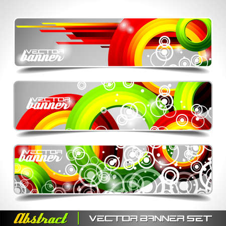Three abstract vector banner background Ilustracja