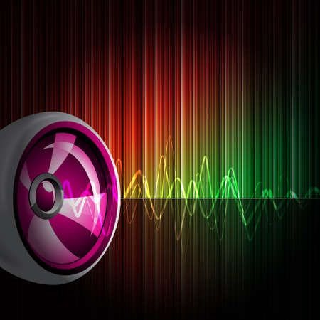 mirrorball: Abstract vector shiny background with speaker.