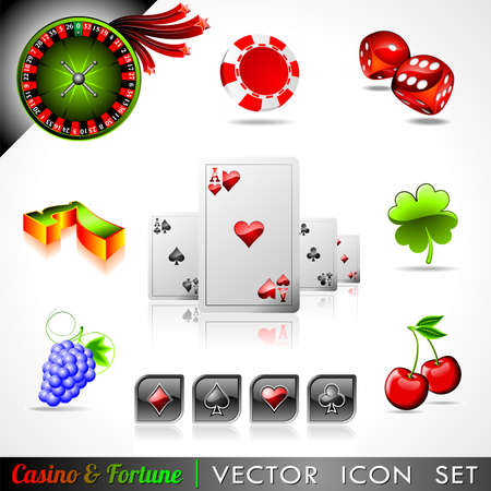 Vicon collection on a casino and fortune theme.
