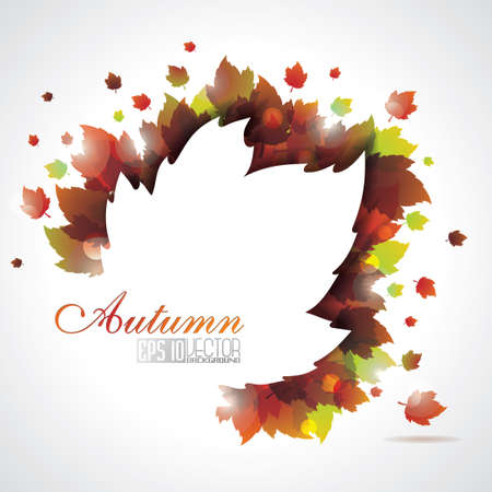 leaves background with copy space Stock Vector - 15171440