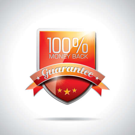 Vector  Guarantee Labels Illustration with shiny styled design on a clear background. EPS 10. Ilustracja