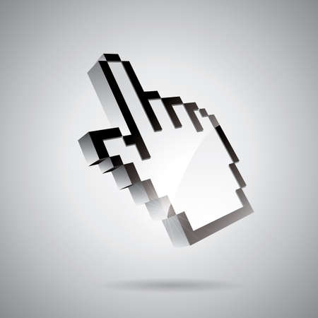 had: technology styled illustration with shiny had pointer on gray background