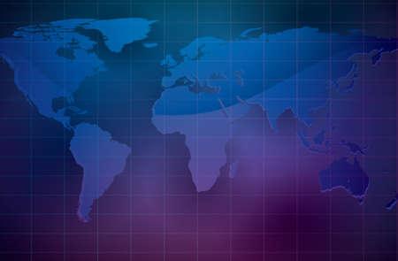 world map illustration   Stock Vector - 18439308