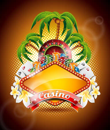 afbeelding op een thema casino roulette wiel en lint.