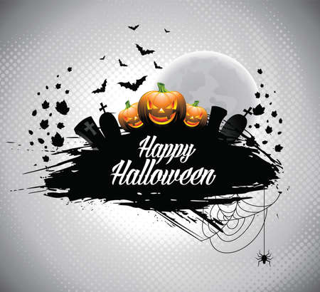 illustration on a Halloween theme. Vector