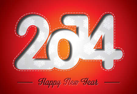 Happy New Year 2014 colorful celebration background   Vector
