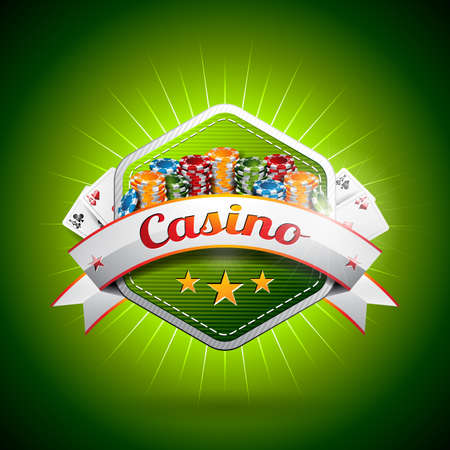 fortune design: Vector illustration on a casino theme with poker card and chips.