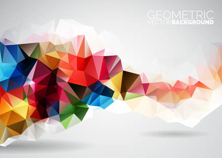 Vector geometric triangles background. Abstract polygonal design. EPS 10 illustration. Ilustracja