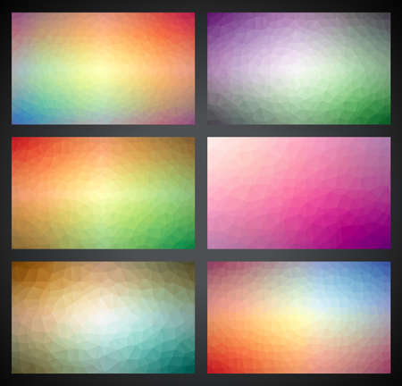 Vector geometric triangles background collection. Abstract polygonal design. Vector