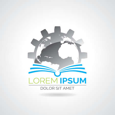 livre �cole: Vecteur livre logo illustration. Ic�ne mod�le de l'�ducation ou de la soci�t�. Eps 10 graphique. Illustration