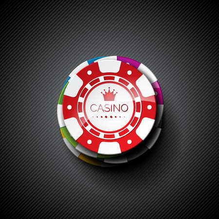wining: illustration on a casino theme with playing chips.