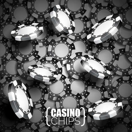 wining: Vector illustration on a casino theme with black playing chips.