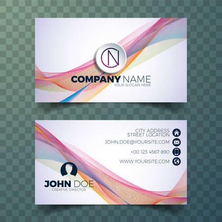 Vector modern business card design template on clean backgound.