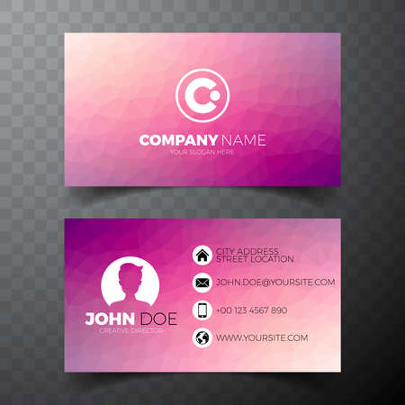 telephone: Modern abstract business card design template on clean backgound.