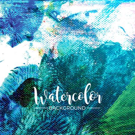 抽象的な手描きの水彩画の背景テクスチャ  イラスト・ベクター素材