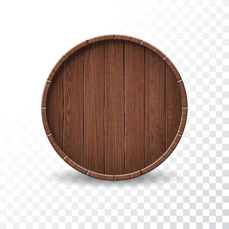 Wood Barrel Illustration  on transparent background Illustration