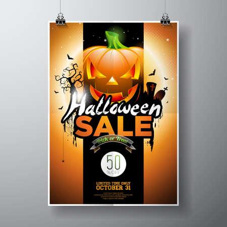 spider web: Halloween sale banner.