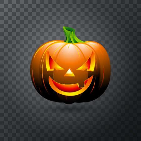 Halloween pumpkin icon. Illustration