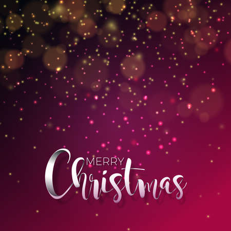 A vector illustration on a Christmas theme with glowing lights and typography.
