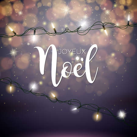 Christmas Illustration with Noel Typography