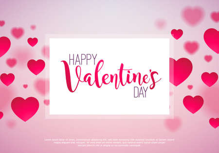 Happy Valentine\'s Day Design With Shiny Heart And Typography ...