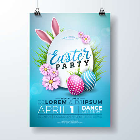 Vector Easter Party invitation Illustration Vectores
