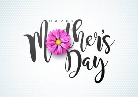 Happy mothers day greeting card image illustration