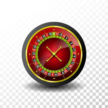 Casinoillustratie met roulettewiel Vector Illustratie