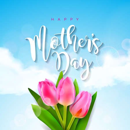 Happy Mothers Day Greeting card template design