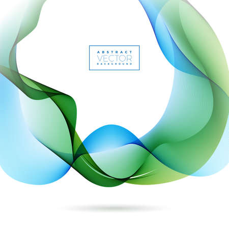 Abstract Wave Design on White Background. Vector Illustration.