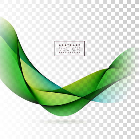Abstract Wave Design on Transparent Background. Vector Illustration.
