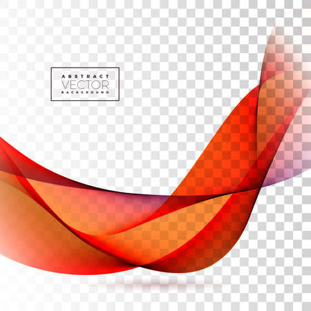 Abstract Wave Design on Transparent Background. Vector Illustration.