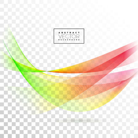 Abstract Wave Design on Transparent Background. Vector Illustration