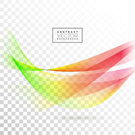 Abstract Wave Design on Transparent Background. Vector Illustration