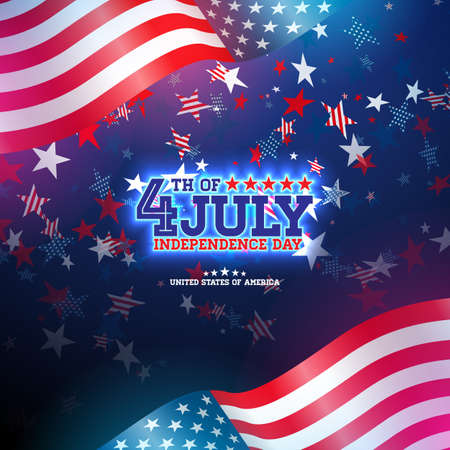 4 de julio Día de la Independencia de los EE. UU. Ilustración de vector