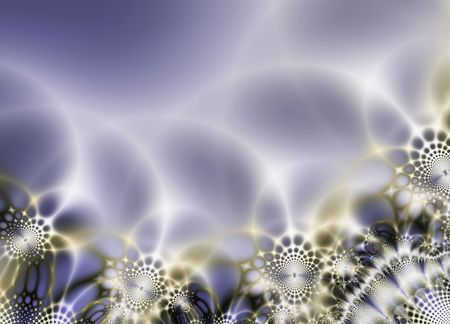 radiate: Abstract composition, lacy with reflections, radiate, Stock Photo