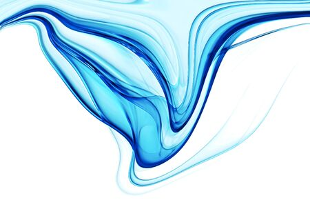 silky: abstract blue silky veil against white background