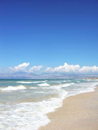 Sunshine, sand and waves photo
