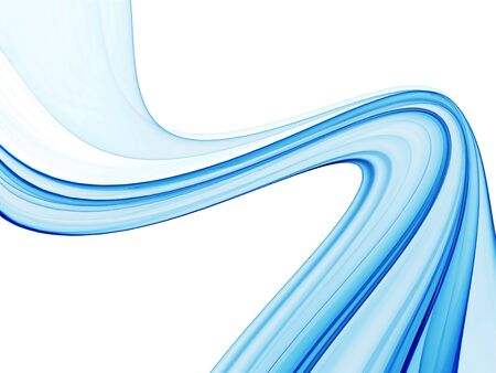 Blue abstract background, wavy lines on white background 写真素材