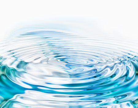 Kristallklares Wasser Wellen auf weißem Hintergrund Standard-Bild - 3439491