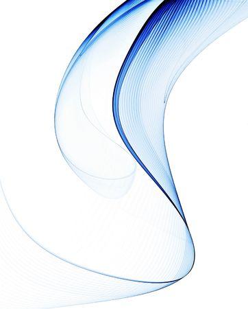 Dynamische abstrakte Darstellung mit blauen Streifen gegen weißen Hintergrund Standard-Bild - 3482862