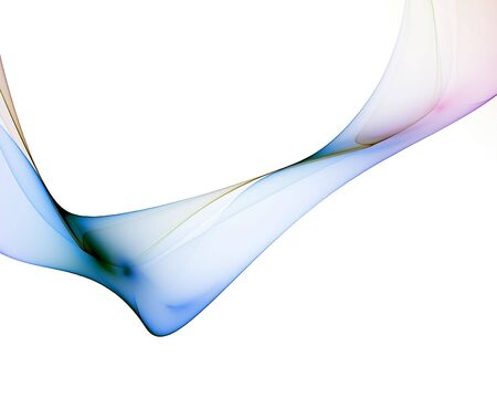 turbulent: abstract veil with colorful reflections against white background