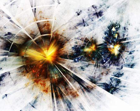 Explosion, broken glass, burst of light Stock Photo - 3651872