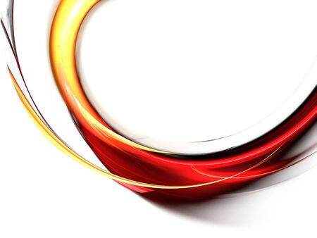 Abstract illustration of wavy flowing energy and colors, corporate business style Stock Photo