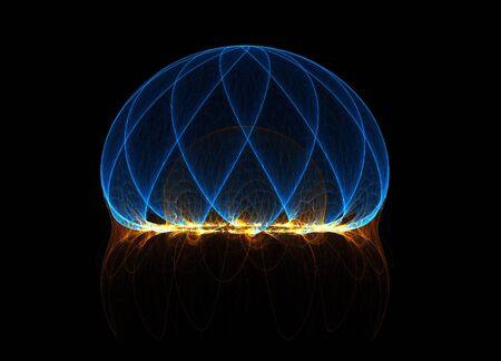 energy field: Fractal energy field lines Stock Photo