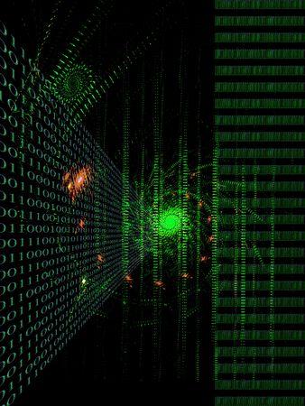 Internet concept, binary code data flow Stock Photo - 3776853