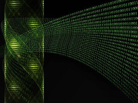 Genetic and binary code, futuristic, fiction