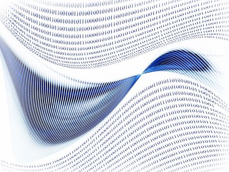 Internet concept, binary code data flow