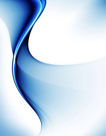 Abstract illustration of wavy flowing energy, corporate business style 写真素材