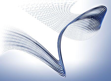 Internet concept, binary code data flow, communication Technology-style background